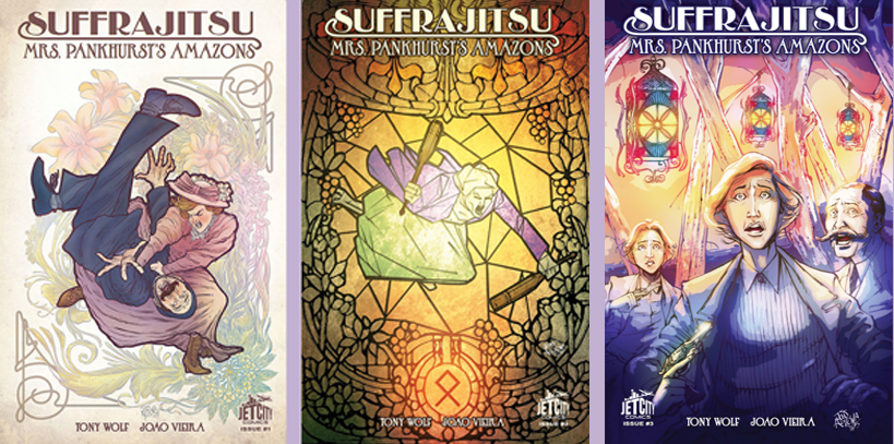 Suffrajitsu three covers